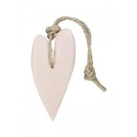MIJNSTIJL | Zeephanger hart xl licht roze parfum mille fleurs