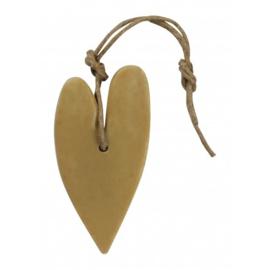 MIJNSTIJL | Zeephanger hart xl goud-oker geel parfum lotus jasmijn