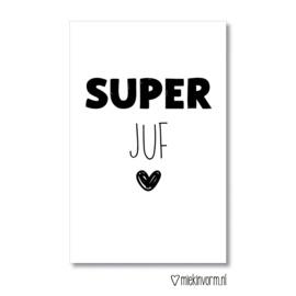 Miekinvorm | Mini-kaart Super juf