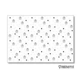 Miekinvorm | Inpakpapier kadootje 50x70cm