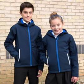 Core junior TX performance hooded softshell jas