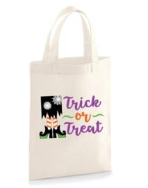 Halloween trick or treat tas 19x25cm  Div. prints
