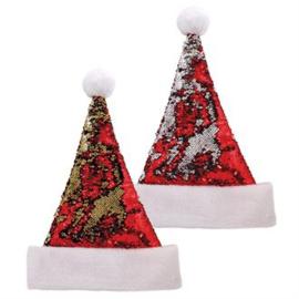 kerstmuts  Pailletten 2 varianten