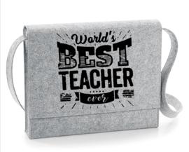 Vilten schoudertas #best teacher ever