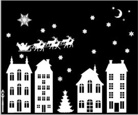 statische raamfolie kerst editie