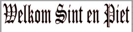 Raamsticker Welkom Sint en Piet   (statische raamfolie)