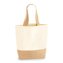 Jute base canvas shopper (3 maten)