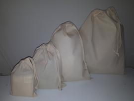 Katoenen zak  div. maten en 5 kleuren
