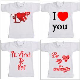 mini shirt met opdruk (valentijn)