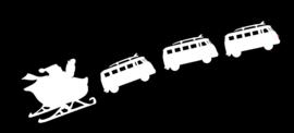 statische raamfolie kerst VW editie