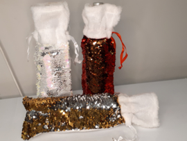 Pailletten fles geschenk verpakking