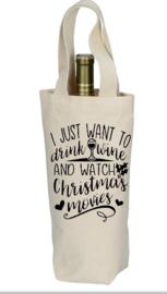 fles geschenken tas met opdruk ``KERST EDITIE``