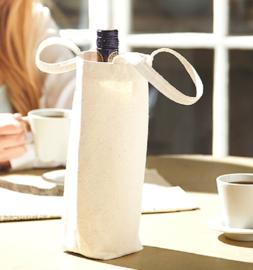 Fairtrade cotton bottle bag (fles geschenken tas)