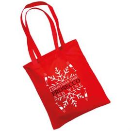 katoenen tas met opdruk ``kerst editie``