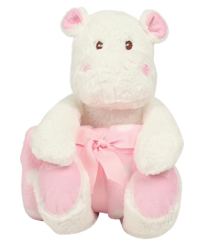 Nijlpaard met dekentje Roze of blauw