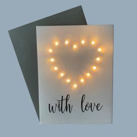Kaart With Love Heart