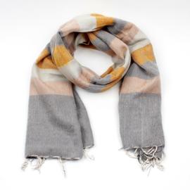 Sjaal Oker Crème