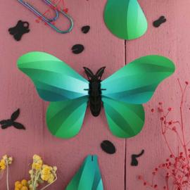 Papieren 3D Grote Zijde Vlinder