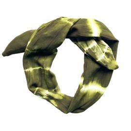 Haarband Tie Dye Legergroen