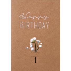 Räder Kaart Happy Birthday Flower