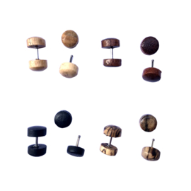 Oorknopjes hout