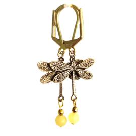 Oorbellen Dragonfly Yellow
