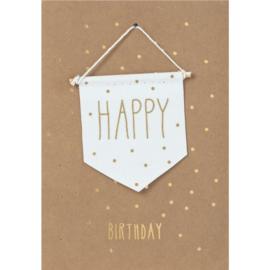 Räder Kaart Happy Birthday Vlag Uit