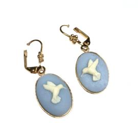 Oorbellen Hummingbird Baby Blue