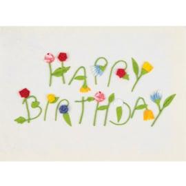 Räder Kaart Happy Birthday Paper Flowers