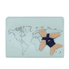 Paspoorthoesje Stitch Lichtblauw