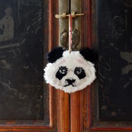 Plumpy Panda Dierenkop Hanger Wol