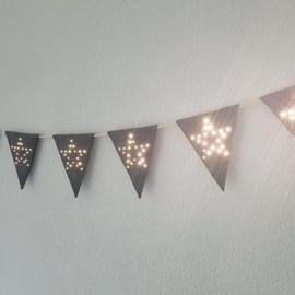 Vlaggenlijn Star Light Vilt Grijs