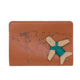 Paspoorthoesje Stitch Cognac
