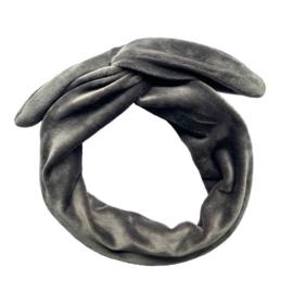 Haarband Velvet Grijs