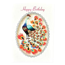 Kaart Happy Birthday Pauw