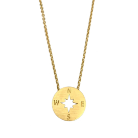 Ketting Compass Goud