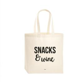 Tote Bag Snacks & Wine