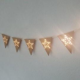 Vlaggenlijn Star Light Vilt Caramel
