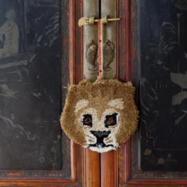 Moody Leeuw Dierenkop Hanger Wol