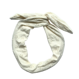 Haarband Embroidery Flower Off White