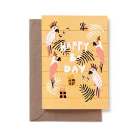 Reddish Design Kaart Happy B-Day
