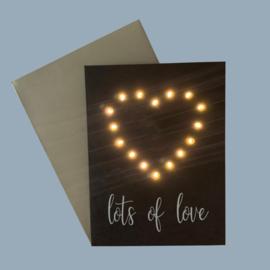 Kaart Lots Of Love Heart