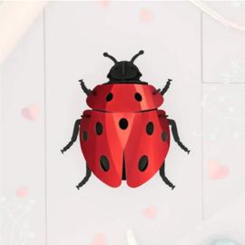 Papieren 3D Lieveheersbeestje