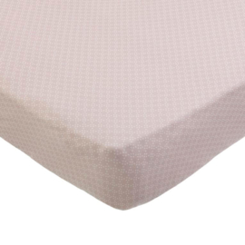 Fitted Sheet Baby Crib Pretty Pearls Pink