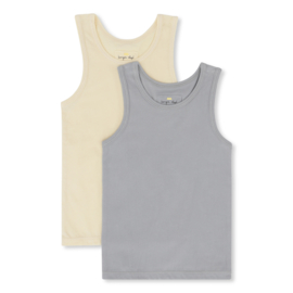 Konges Slojd 2 Pack Tank // Lemon Sorbet - Quarry Blue