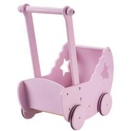 Kid's concept poppenwagen met bedset roze
