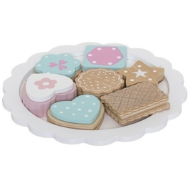 Bloomingville bordje met 7 koekjes