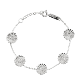 Bloom when you are ready – Mama armband - Zilver
