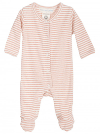Serendipity Newborn playsuit // Clay Rose & Offwhite
