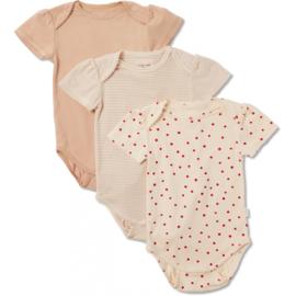 Konges Slojd cue 3 pack short sleeve body // macoroon rosey raspberry